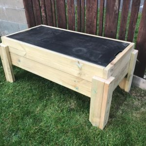 chalkboard sand box